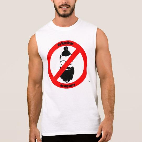 No Man Buns No Hipsters Men's Ultra Cotton Sleeveless T-Shirt