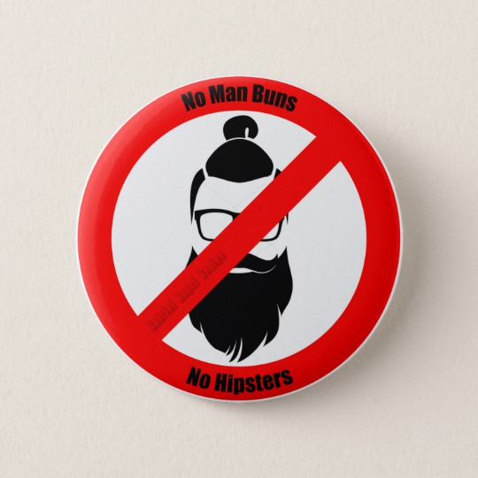 No Man Buns No Hipsters Round Paper Coaster