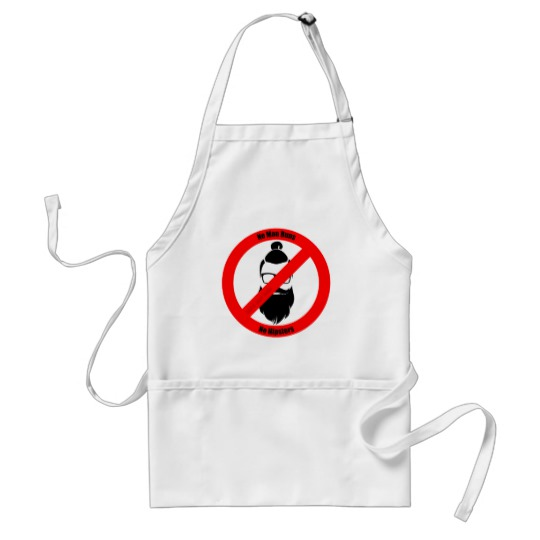 No Man Buns No Hipsters Standard Apron