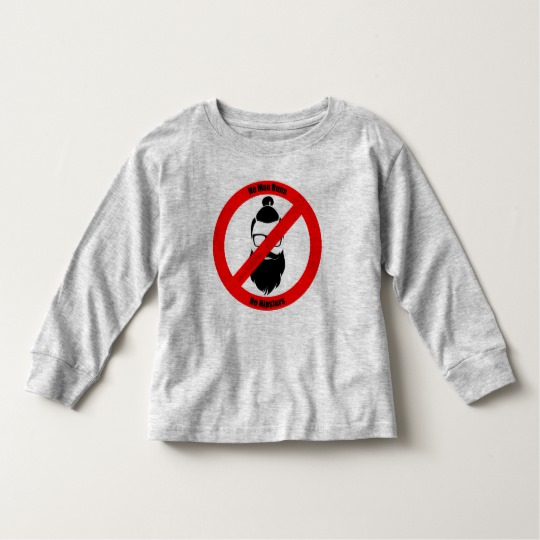 No Man Buns No Hipsters Toddler Long Sleeve T-Shirt