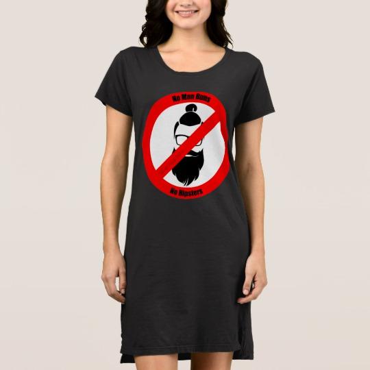 No Man Buns No Hipsters Women's Alternative Apparel T-Shirt Dress