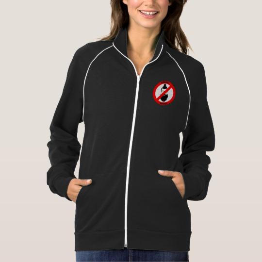 No Man Buns No Hipsters Women's American Apparel California Fleece Track Jacket