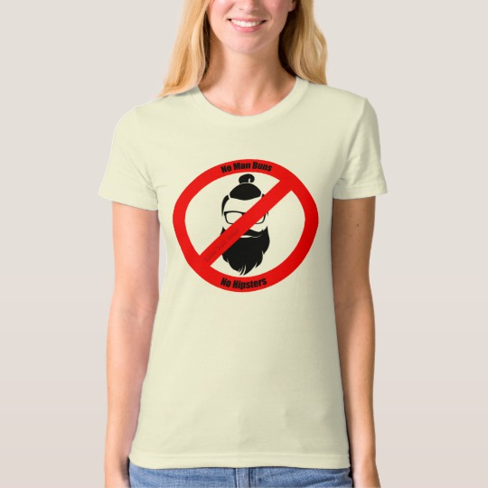 No Man Buns No Hipsters Women's American Apparel Organic T-Shirt