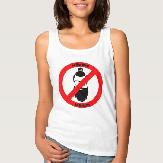 No Man Buns No Hipsters Women's Basic Tank Top