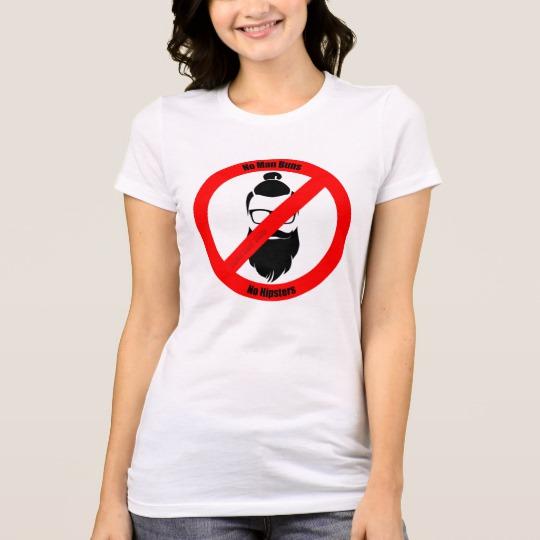 No Man Buns No Hipsters Women's Bella+Canvas Favorite Jersey T-Shirt