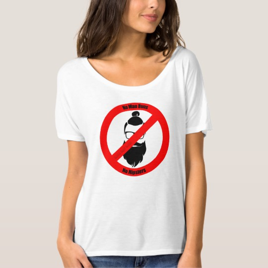 No Man Buns No Hipsters Women's Bella+Canvas Slouchy Boyfriend T-Shirt