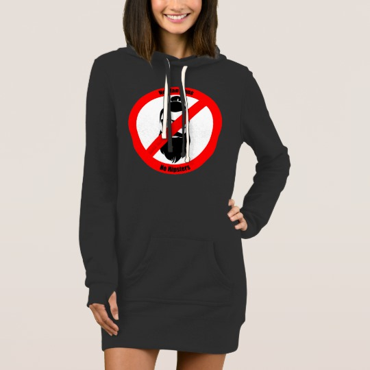 No Man Buns No Hipsters Women's Hoodie Dress