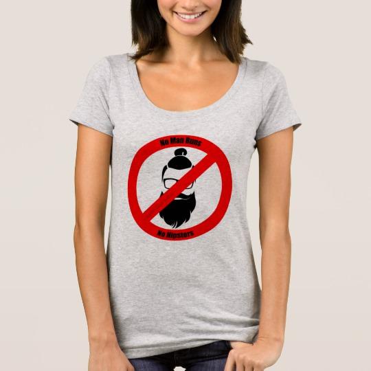 No Man Buns No Hipsters Women's Next Level Scoop Neck T-Shirt
