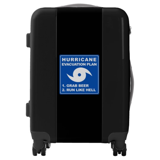 Hurricane Evacuation Plan Parody  Carry On Luggage Suitcase