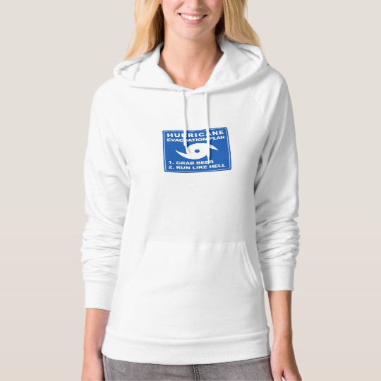 Hurricane Evacuation Plan Parody American Apparel California Fleece Pullover Hoodie