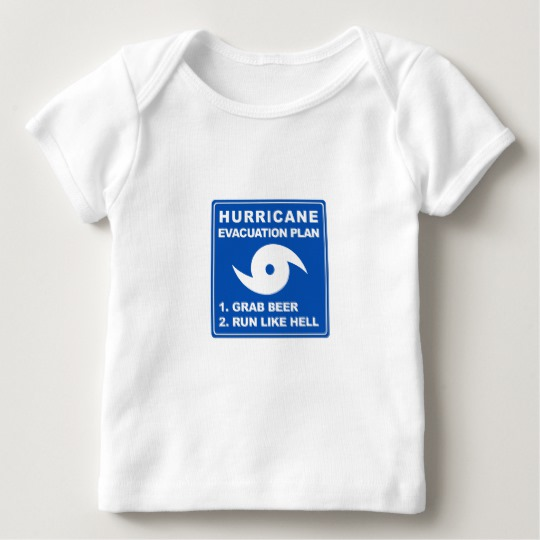 Hurricane Evacuation Plan Parody Baby American Apparel Lap T-Shirt