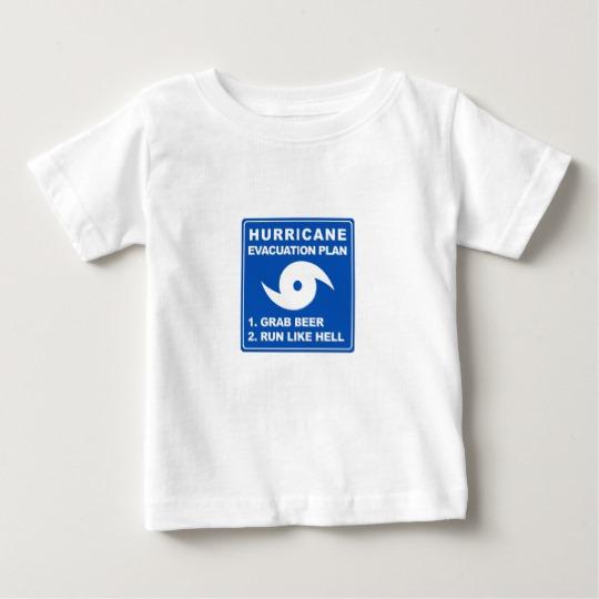 Hurricane Evacuation Plan Parody Baby Fine Jersey T-Shirt