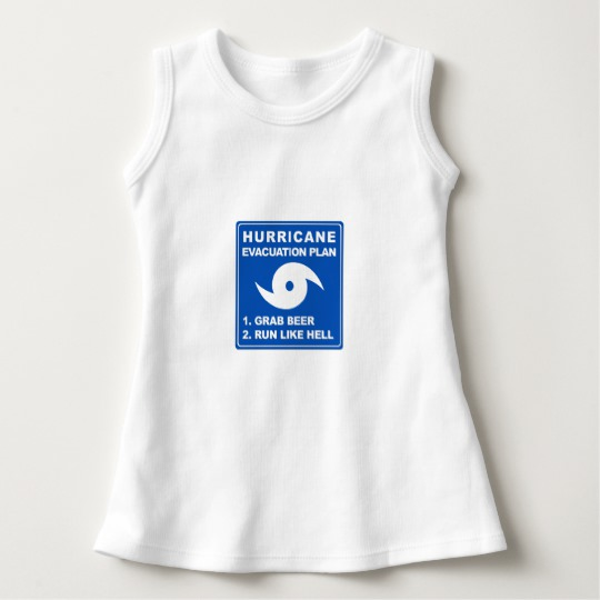 Hurricane Evacuation Plan Parody Baby Sleeveless Dress