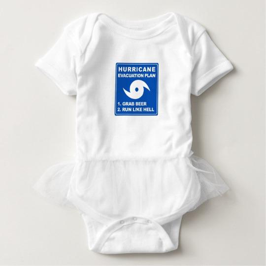 Hurricane Evacuation Plan Parody Baby Tutu Bodysuit