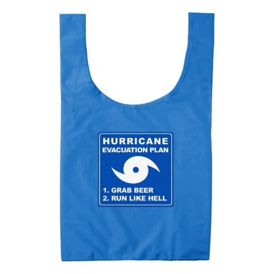 Hurricane Evacuation Plan Parody BAGGU Reusable Bag