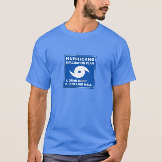 Hurricane Evacuation Plan Parody Basic Dark T-Shirt