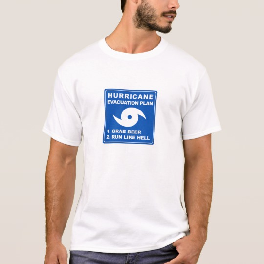 Hurricane Evacuation Plan Parody Basic T-Shirt
