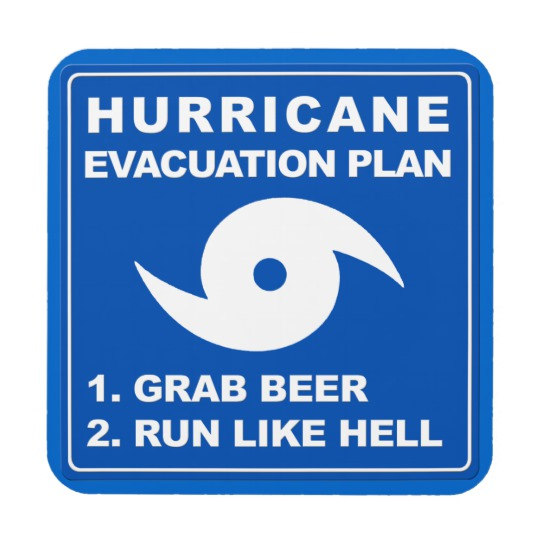 Hurricane Evacuation Plan Parody Coaster