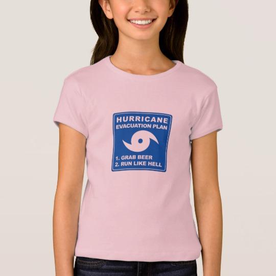 Hurricane Evacuation Plan Parody Girls' Bella+Canvas Fitted Babydoll T-Shirt