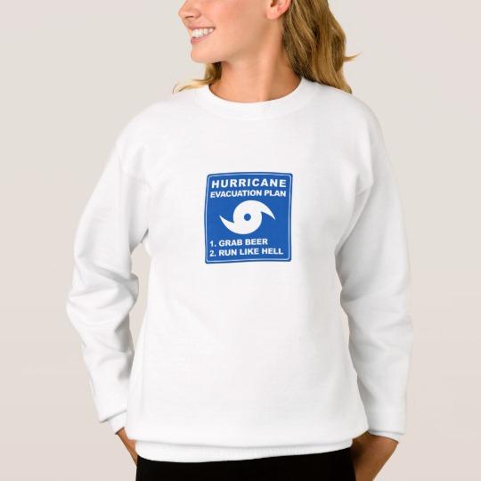 Hurricane Evacuation Plan Parody Girls' Hanes ComfortBlend® Sweatshirt