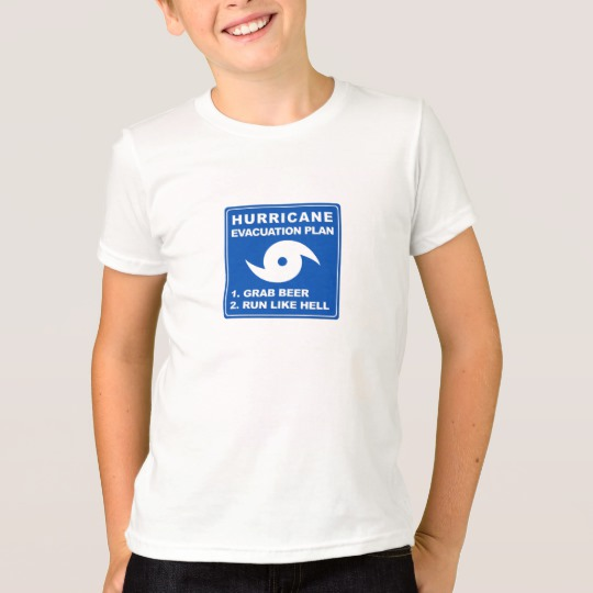 Hurricane Evacuation Plan Parody Kids' American Apparel Fine Jersey T-Shirt
