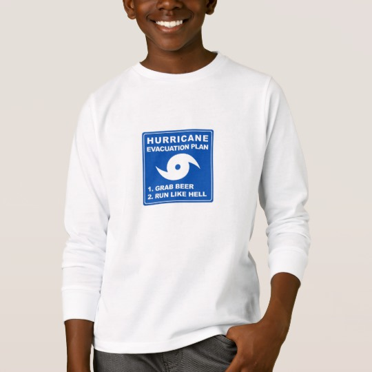 Hurricane Evacuation Plan Parody Kids' Basic Long Sleeve T-Shirt
