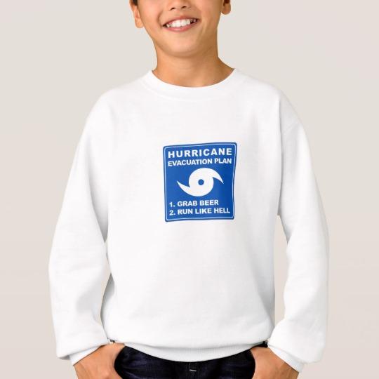 Hurricane Evacuation Plan Parody Kids' Hanes ComfortBlend® Sweatshirt