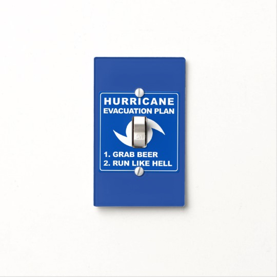 Hurricane Evacuation Plan Parody Light Switch Cover
