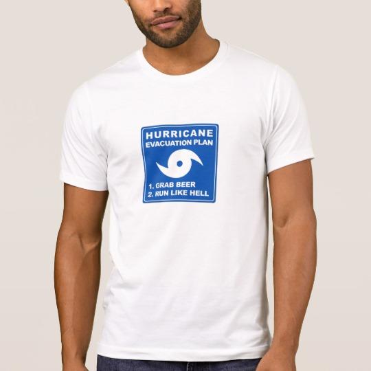 Hurricane Evacuation Plan Parody Men's Alternative Apparel Crew Neck T-Shirt
