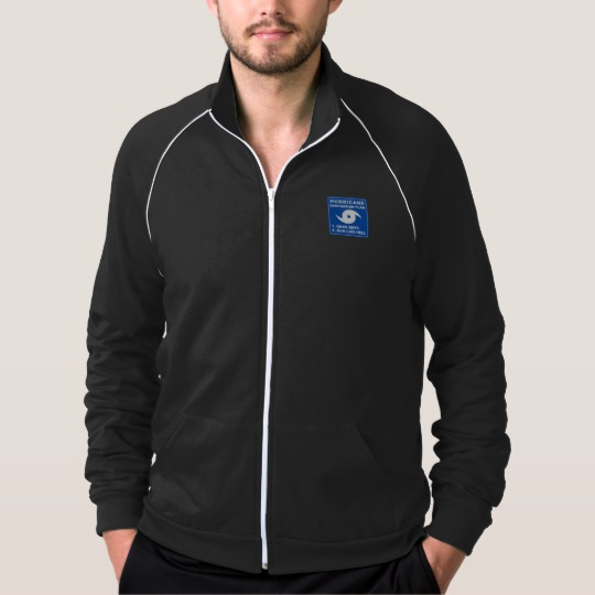 Hurricane Evacuation Plan Parody Men's American Apparel California Fleece Track Jacket