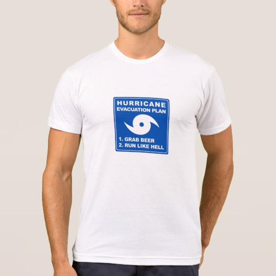 Hurricane Evacuation Plan Parody Men's American Apparel Poly-Cotton Blend T-Shirt