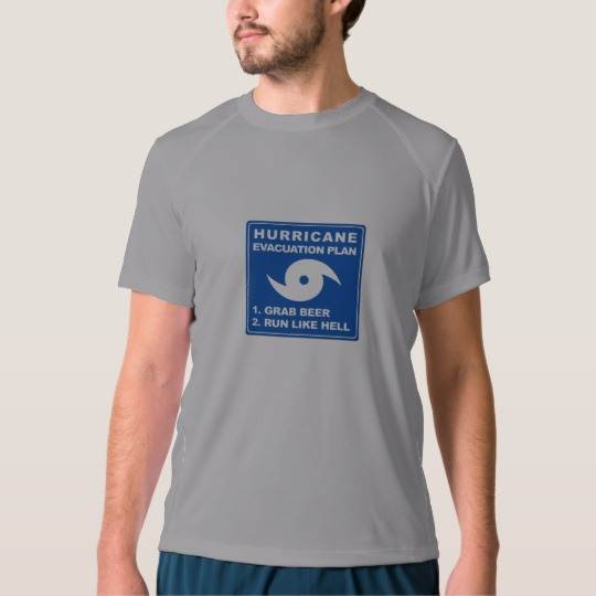 Hurricane Evacuation Plan Parody Men's New Balance T-Shirt