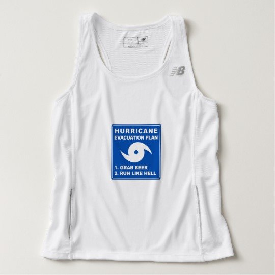 Hurricane Evacuation Plan Parody Men's New Balance Tempo Running Tank Top