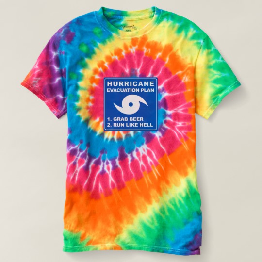 Hurricane Evacuation Plan Parody Men's Spiral Tie-Dye T-Shirt
