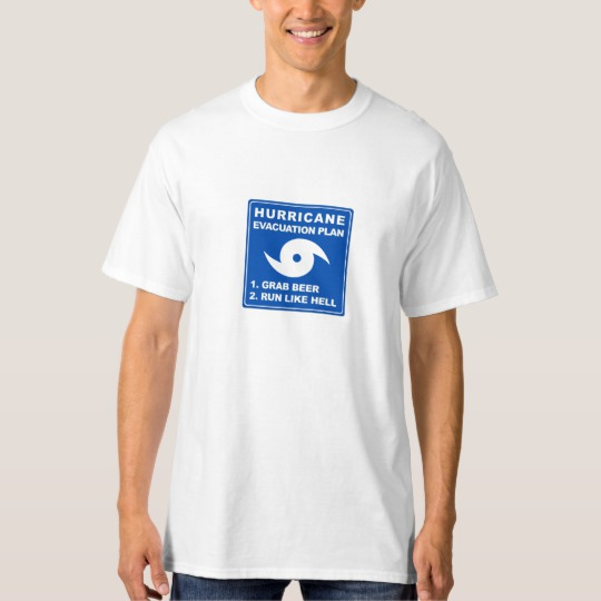 Hurricane Evacuation Plan Parody Men's Tall Hanes T-Shirt
