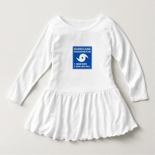 Hurricane Evacuation Plan Parody Toddler Ruffle Dress