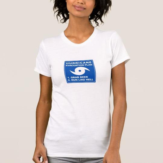 Hurricane Evacuation Plan Parody Women's Alternative Apparel Crew Neck T-Shirt