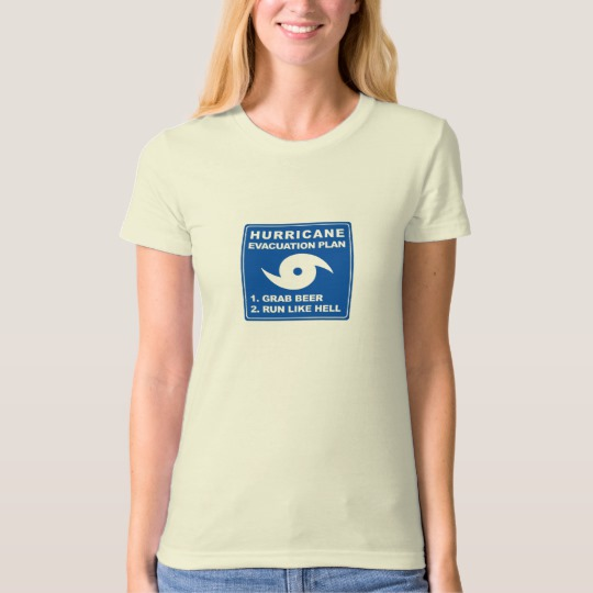 Hurricane Evacuation Plan Parody Women's American Apparel Organic T-Shirt