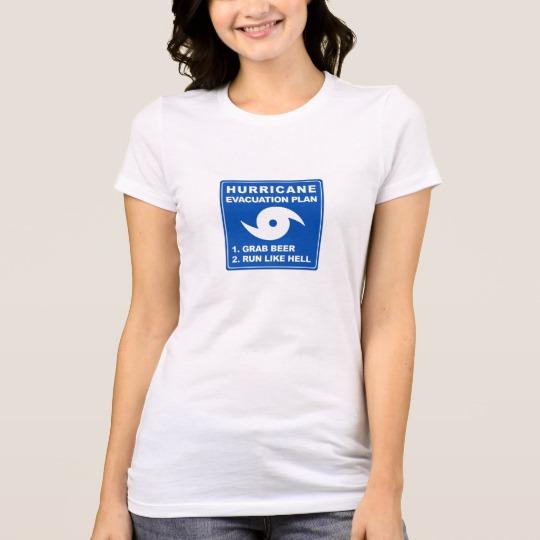 Hurricane Evacuation Plan Parody Women's Bella+Canvas Favorite Jersey T-Shirt