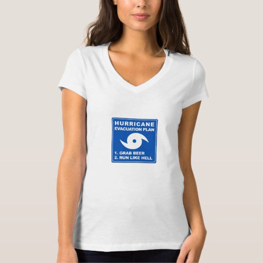 Hurricane Evacuation Plan Parody Women's Bella+Canvas Jersey V-Neck T-Shirt