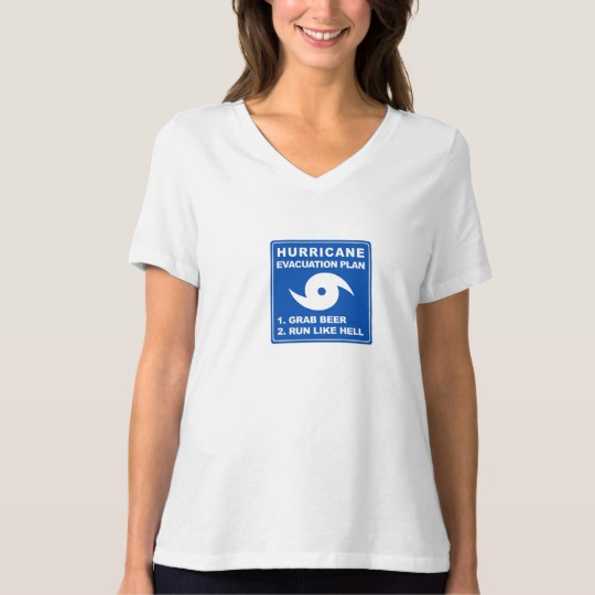 Hurricane Evacuation Plan Parody Women's Bella+Canvas Relaxed Fit V-Neck T-Shirt