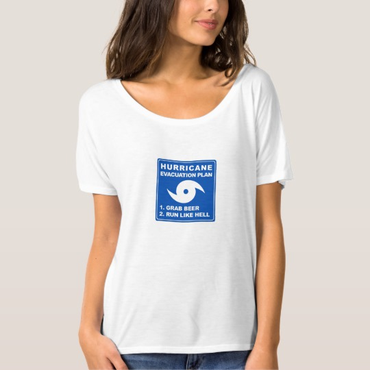 Hurricane Evacuation Plan Parody Women's Bella+Canvas Slouchy Boyfriend T-Shirt