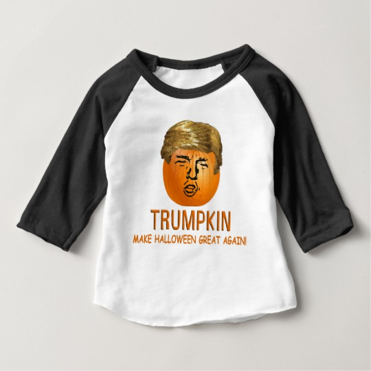 Trumpkin Make Halloween Great Again Baby American Apparel 3/4 Sleeve Raglan T-Shirt
