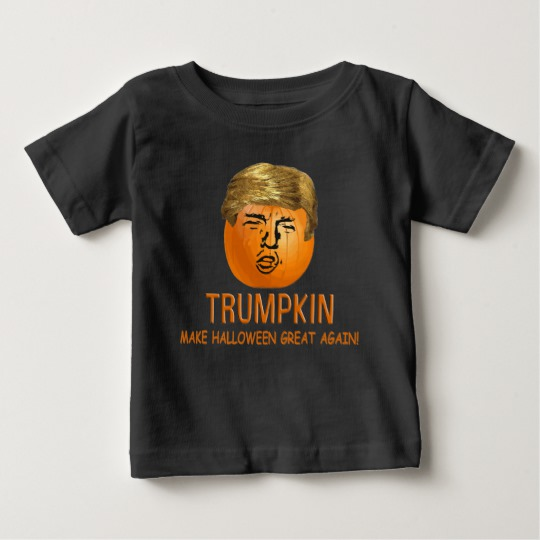 Trumpkin Make Halloween Great Again Baby Fine Jersey T-Shirt