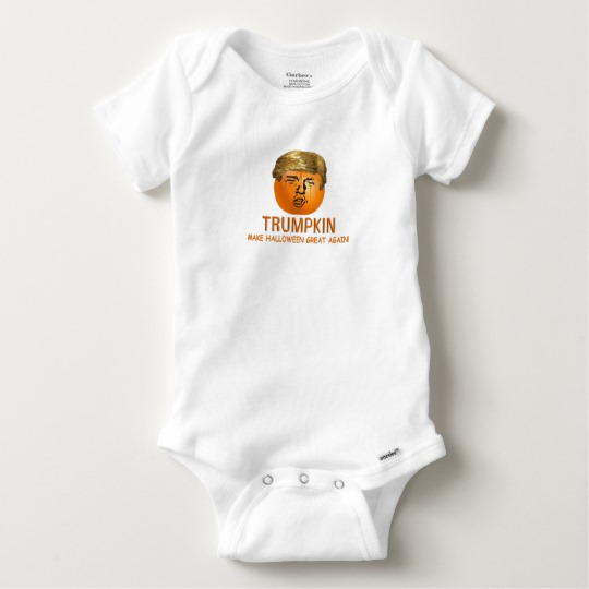 Trumpkin Make Halloween Great Again Baby Gerber Cotton Onesie