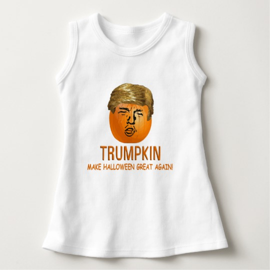 Trumpkin Make Halloween Great Again Baby Sleeveless Dress