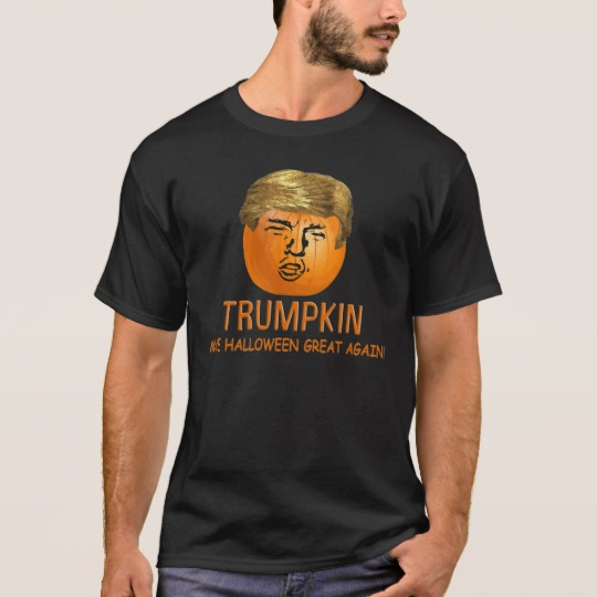 Trumpkin Make Halloween Great Again Basic Dark T-Shirt