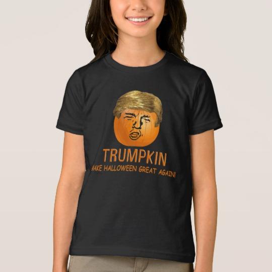 Trumpkin Make Halloween Great Again Girls' American Apparel Fine Jersey T-Shirt