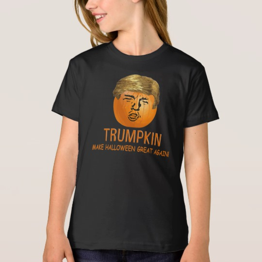 Trumpkin Make Halloween Great Again Girls' American Apparel Organic T-Shirt