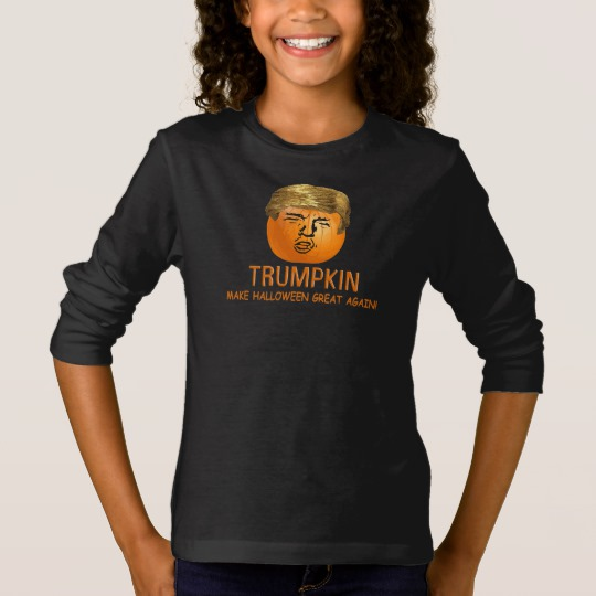 Trumpkin Make Halloween Great Again Girls' Basic Long Sleeve T-Shirt